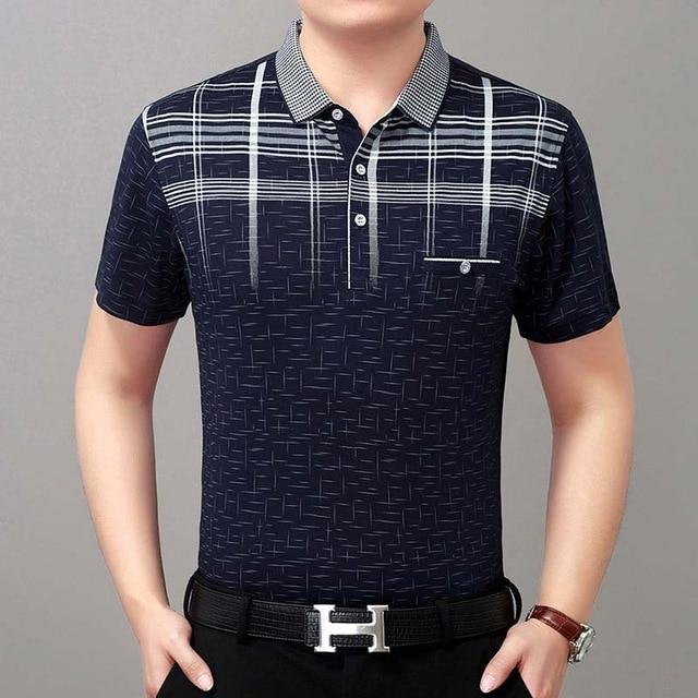New Summer Polo Shirt Men Short Sleeve Polos Shirts Cross Slim Fit ... b74a450ed